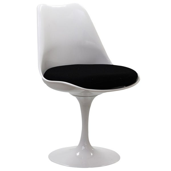 Eero Saarinen Style Tulip Dining Chair With Black Cushion