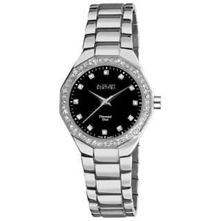 August Steiner Women's Diamond Swiss Quartz Silver-Tone Bracelet Watch https://ak1.ostkcdn.com/images/products/6673339/P14230505.jpg?impolicy=medium