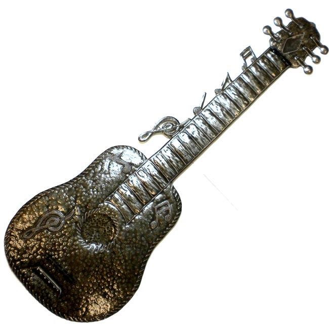 Handmade Haitian Metal Art Guitar (Haiti)