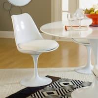 Eero Saarinen Style Tulip Dining Chair with White Cushion