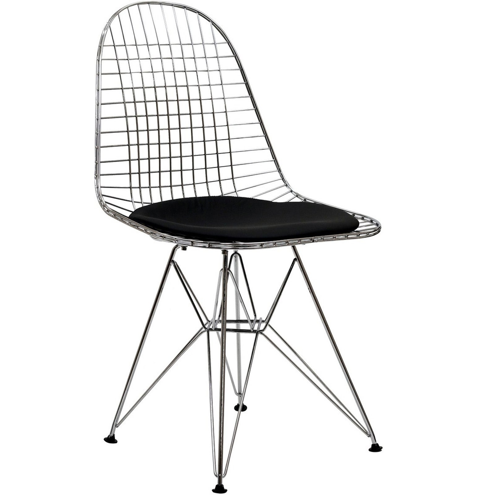 Wire Tower Black Vinyl Cushion Dining Chair Free  : Wire Tower Black Vinyl Cushion Side Chair L14230561 from www.overstock.com size 1600 x 1600 jpeg 76kB