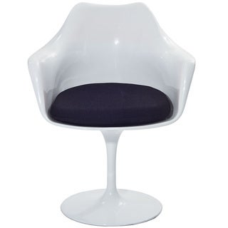 Charming Eero Saarinen Style Tulip Arm Chair With Black Cushion   Custom