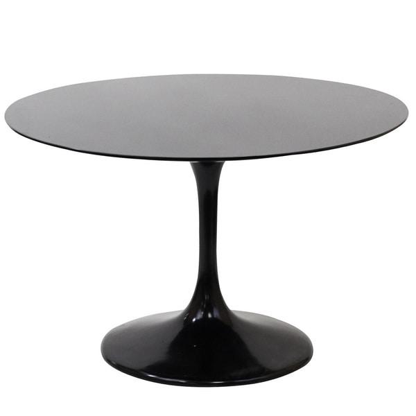 Eero Saarinen Style 48 Inch Black Tulip Dining Table   Free Shipping Today    Overstock.com   14230616