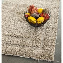 Safavieh Shadow Box Ultimate Beige Shag Rug (2'3 x 11')
