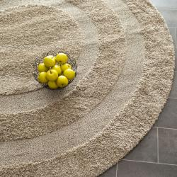 Safavieh Shadow Box Ultimate Beige Shag Rug (4' Round)