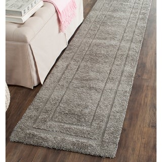 Safavieh Ultimate Shadow Box Shag Dark Grey Runner Rug (2'3 x 11')
