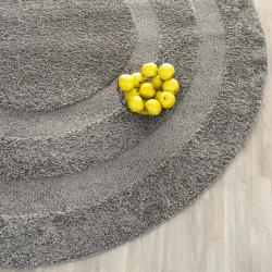 Safavieh Ultimate Shadow Box Shag Dark Grey Rug (4' Round)