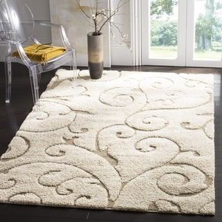 Safavieh Florida Ultimate Shag Cream/ Beige Rug (9'6 x 13')