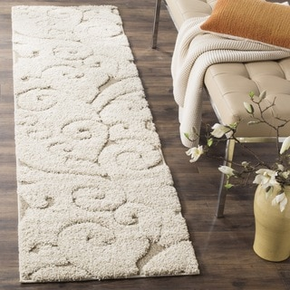Safavieh Florida Ultimate Shag Cream/ Beige Runner (2'3 x 11')