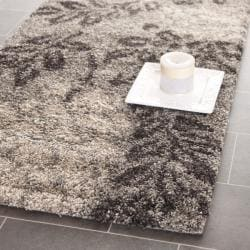 Safavieh Ultimate Smoke/ Dark Brown Shag Rug (2'3 x 11')
