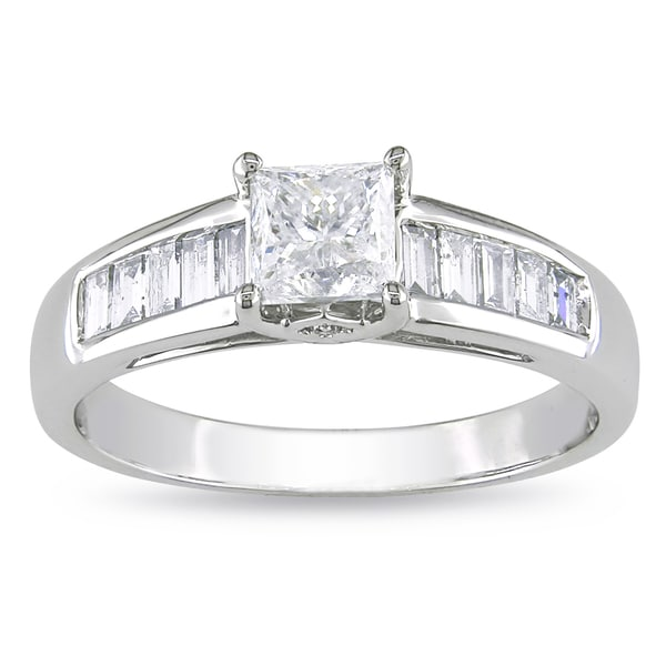 Miadora Signature Collection 14k White Gold 1ct TDW Princess Diamond Ring
