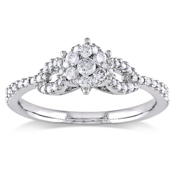 Miadora 14k White Gold 1/3ct TDW Diamond Ring (G-H, I1-I2)
