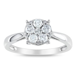 Miadora 14k White Gold 1/2ct TDW Diamond Ring