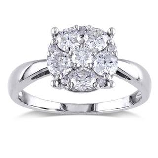 Miadora Signature Collection 14k White Gold 1ct TDW Round Diamond Ring