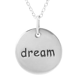 Journee Collection  Sterling Silver 'Dream' Disc Necklace