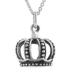 Journee Collection Sterling Silver Crown Necklace