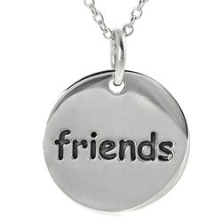 Journee Collection Sterling Silver 'Friends' Disc Necklace
