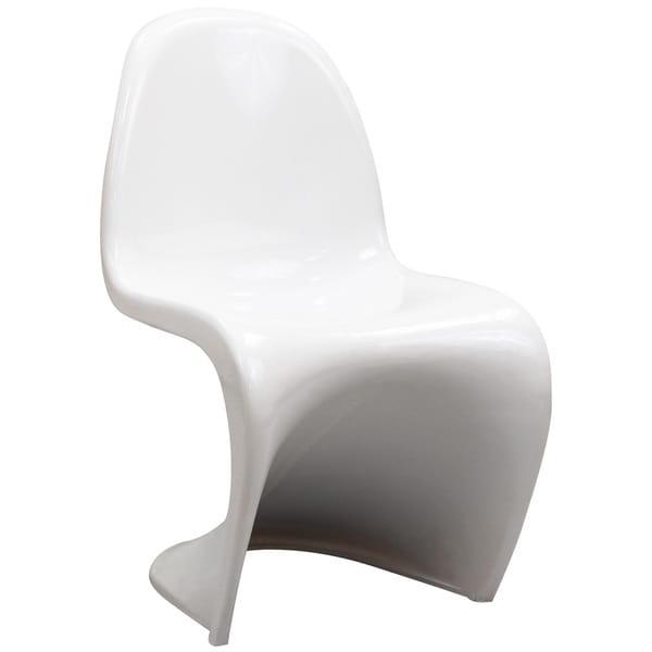 'S' Panton Style Small White Chair