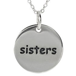Journee Collection  Sterling Silver 'Sisters' Disc Necklace