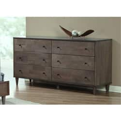 Jasper Laine Vilas Light Charcoal 6 Drawer Dresser