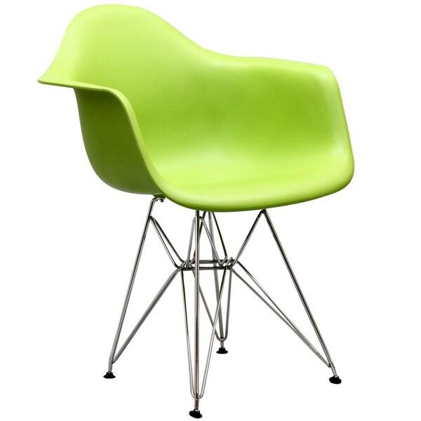 Shop Paris Wire Green Arm Chair