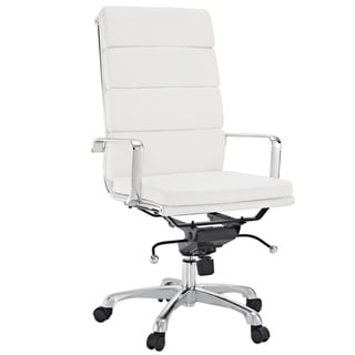 City High-Back White Vinyl Conference Office Chair