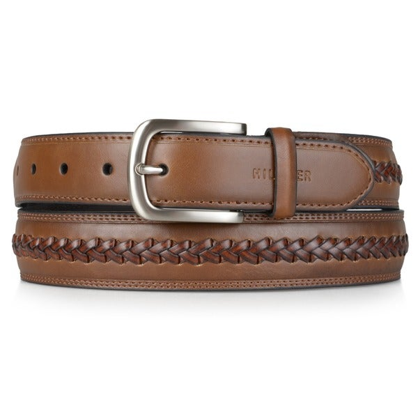 d6532b24015ee7 Shop Tommy Hilfiger Men s Braid Detail Topstitched Genuine Leather Belt - Free  Shipping On Orders Over  45 - Overstock - 6674414