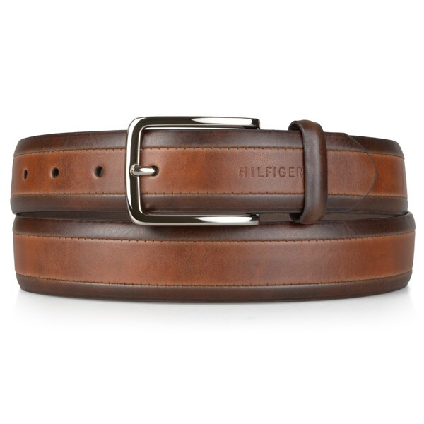 5742ff268f14f9 Shop Tommy Hilfiger Men s Two-tone Genuine Leather Belt - Free Shipping On  Orders Over  45 - Overstock - 6674418