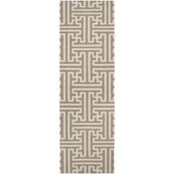 Hand-woven Ancient Wool Rug (2'6 x 8')