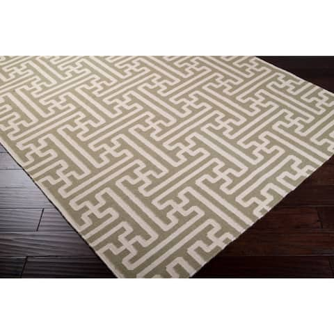 "Hand-woven Ancient Wool Area Rug - 2'6"" x 8' Runner"