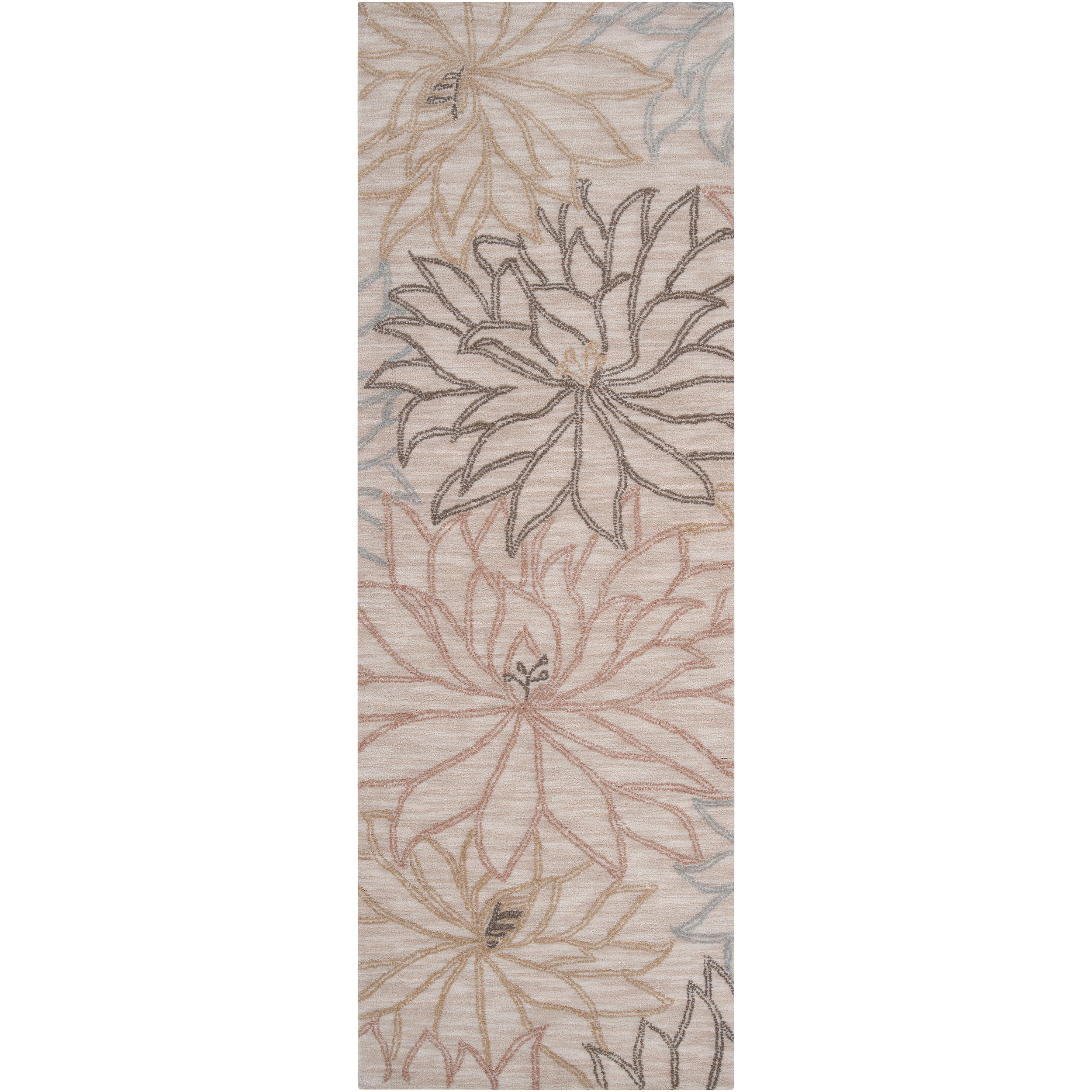 Hand-tufted Cream Ameila Polyester Rug (2'6 x 7'6)