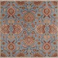 Hand-tufted Blue Kipper Wool Area Rug - 4' x 4'