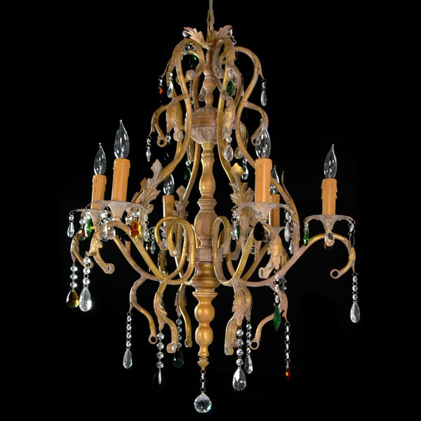 Iron Scrolls Crystal Chandelier (China)
