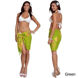 1 World Sarongs Women's Batik Seashell Half Sarong (Indonesia)