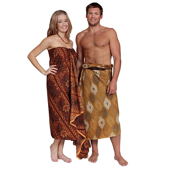 1 World Sarongs Women's Traditional Male/Female Indonesian Sarongs (Indonesia)