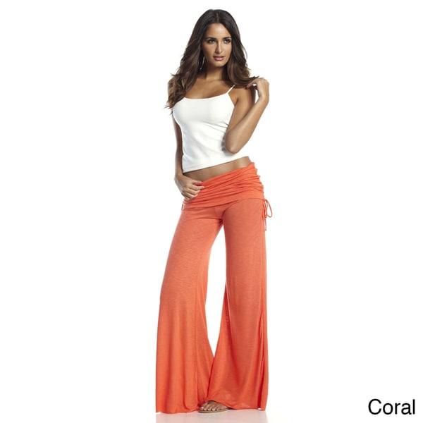 Elan Women's Rollover Waistband Flair Bottom Pants