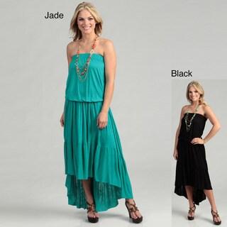 Elan Women's Strapless Hi-Low Maxi Dress