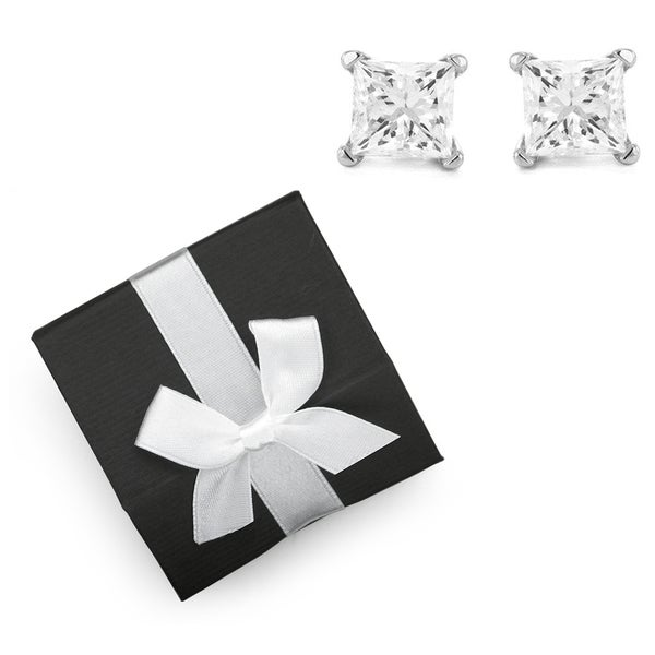 Montebello 14k Gold 1/5ct TDW Diamond Stud Earrings with Gift Box