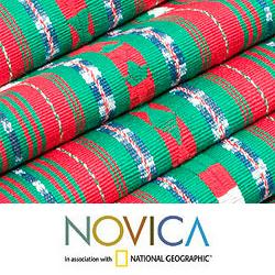 Handcrafted Cotton 'Maya Christmas' Table Runner (Guatemala)