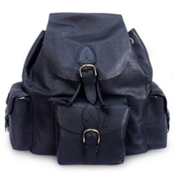 Leather 'Black Deluxe' Backpack (Mexico)