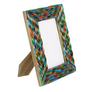 Handcrafted Glass 'Bangalore Bangles' Photo Frame (India)