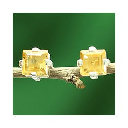 Sterling Silver 'Golden Charm' Citrine Earrings (India)