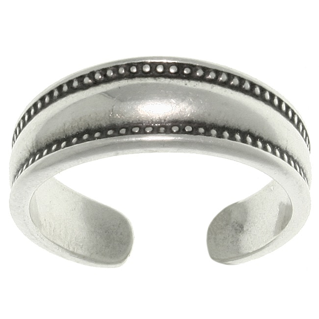 Carolina Glamour Collection Sterling Silver Bali Edge Toe Ring
