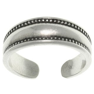Sterling Silver Bali Edge Toe Ring