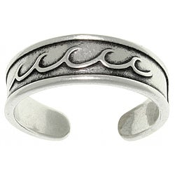 Carolina Glamour Collection Sterling Silver Rolling Wave Toe Ring