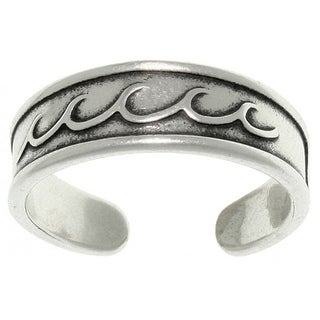 Sterling Silver Rolling Wave Toe Ring