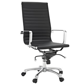 Malibu High-back Black Vinyl Office Chair