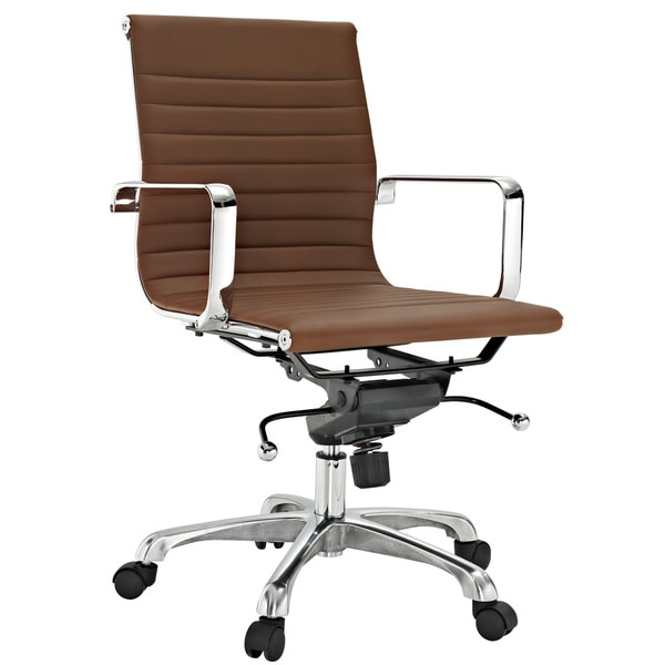 Malibu Mid-back Terracotta Vinyl Office Chair