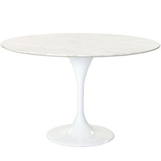 Eero Saarinen Reproduction 48-inch White Marble Tulip Dining Table