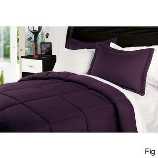 Water and Stain Resistant Down Alternative 3-piece Comforter Set